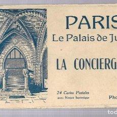 Cartes Postales: E50-BLOC DE 24 POSTAL DE PARIS - LE PALAIS DE JUSTICE LA CONCIERGERIE- CON DESCRIPCION. Lote 186080878