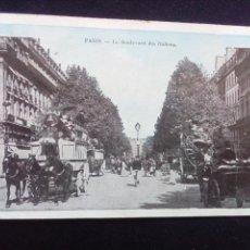 Postales: POSTAL ANTIGUA PARÍS LE BOULEVARD DES ITALIENS. Lote 186143275