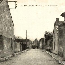 Postales: MATOUGUES LA GRAND RUE. Lote 186275042