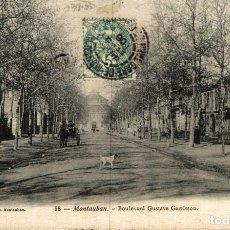 Postales: MONTAUBAN BOULEVARD GUSTAVE GARRISSON. Lote 186287298