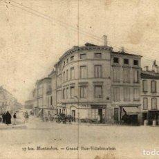 Postales: MONTAUBAN GRAND RUE VILLEBOURBON. Lote 186287348