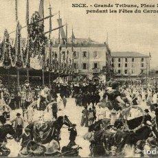 Cartes Postales: CPA NICE GRANDE TRIBUNE PLACE MASSENA PENDANT LES FÊTES DU CARNAVAL. Lote 186403082