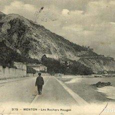 Postales: MENTON LES ROCHERS ROUGES. Lote 186403742