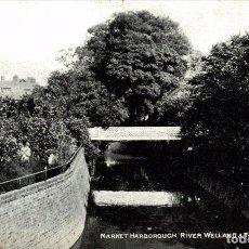 Postales: MARKET HARBOROUGH, RIVER WELLAND & FOOTBRIDGE. Lote 187395756