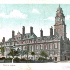 Postales: LEICESTER : TOWN HALL. Lote 187395801