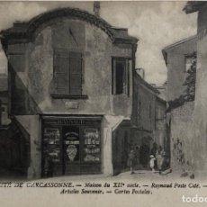Postales: TARJETA POSTAL DE FRANCIA-CITE DE CARCASSONNE. MAISON DU XII SIECLE.. Lote 188620482