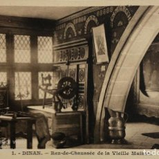 Postales: TARJETA POSTAL DE FRANCIA-DINAN-REZ DE CHAUSSEE DE LA VIEILLE MAISON.. Lote 188621170