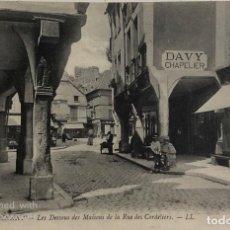 Postales: TARJETA POSTAL DE FRANCIA-DINAN-LES DESSOUS DES MAISONS DE LA RUE DES CORDELIERS.. Lote 188621210