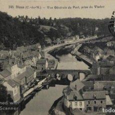 Postales: TARJETA POSTAL DE FRANCIA-DINAN-VUE GENERALE DU PORT. PRISE DU VIADUC.. Lote 188621221