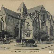 Postales: TARJETA POSTAL DE FRANCIA-DINAN-EGLISE SAINT-MALO. Lote 188621273