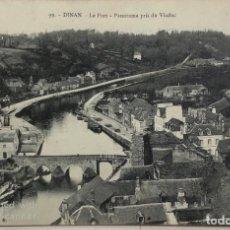 Postales: TARJETA POSTAL DE FRANCIA-DINAN-LE PORT-PANORAMA PRIS DU VIADUC.. Lote 188621311