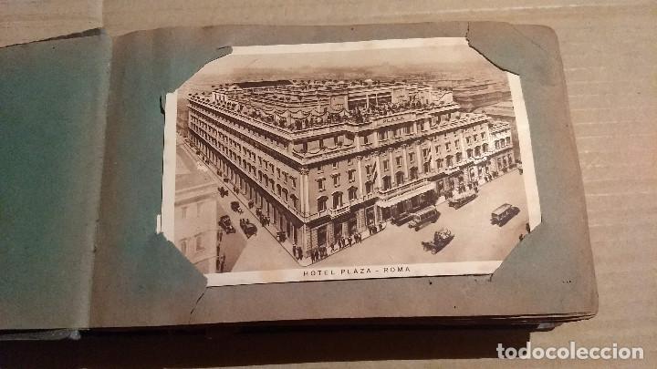 Postales: Álbum antiguo con 98 postales, de Roma y otras ciudades europeas. Inicios S XX - Foto 3 - 188669680