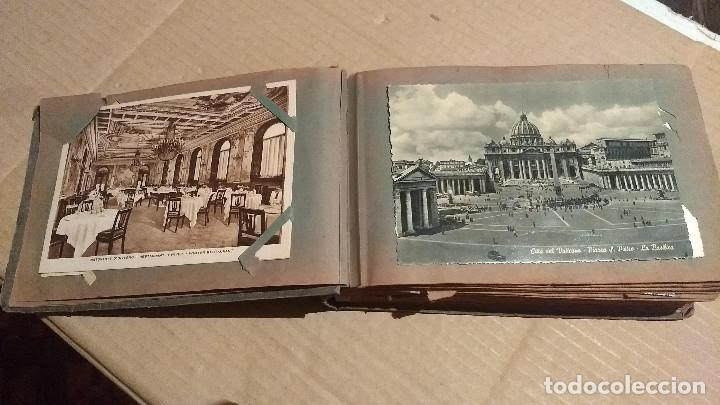 Postales: Álbum antiguo con 98 postales, de Roma y otras ciudades europeas. Inicios S XX - Foto 8 - 188669680