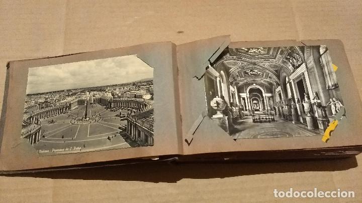 Postales: Álbum antiguo con 98 postales, de Roma y otras ciudades europeas. Inicios S XX - Foto 9 - 188669680