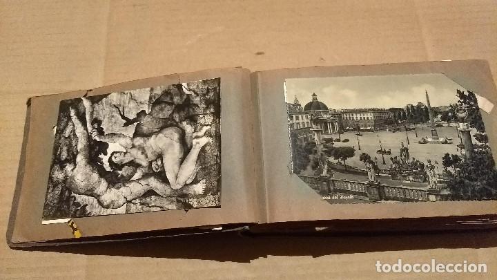 Postales: Álbum antiguo con 98 postales, de Roma y otras ciudades europeas. Inicios S XX - Foto 10 - 188669680