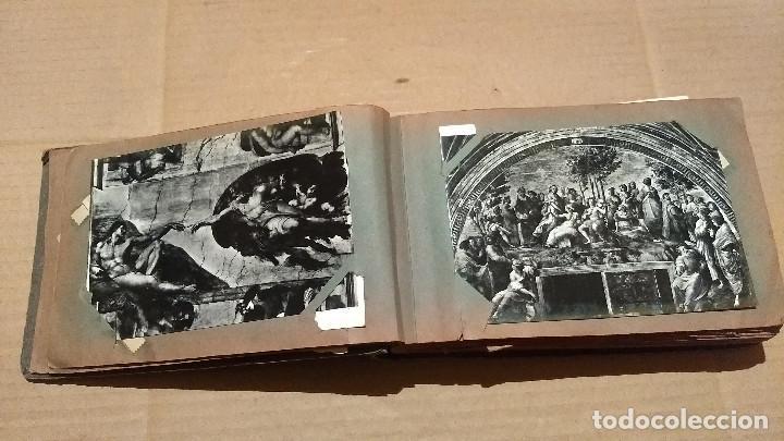 Postales: Álbum antiguo con 98 postales, de Roma y otras ciudades europeas. Inicios S XX - Foto 12 - 188669680
