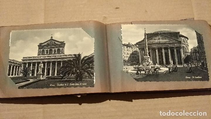 Postales: Álbum antiguo con 98 postales, de Roma y otras ciudades europeas. Inicios S XX - Foto 26 - 188669680