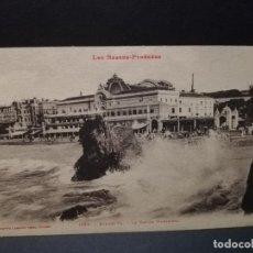 Postales: TARJETA POSTAL DE BIARRITZ. FRANCIA. LE CASINO MUNICIPAL.. Lote 189299103