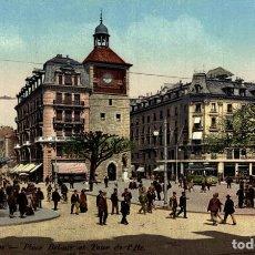 Postales: GENEVE PLACE BEL-AIR ET TOUR DE LITE SUIZA SWITZERLAND SUISSE SCHWEIZ. Lote 189342255
