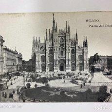 Postales: TARJETA POSTAL. ITALIA. MILAN. MILANO. PIAZZA DEL DUOMO. . Lote 189543580