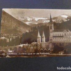 Postales: LOURDES FRANCIA LA BASILICA Y LOS PIRINEOS. Lote 190129255