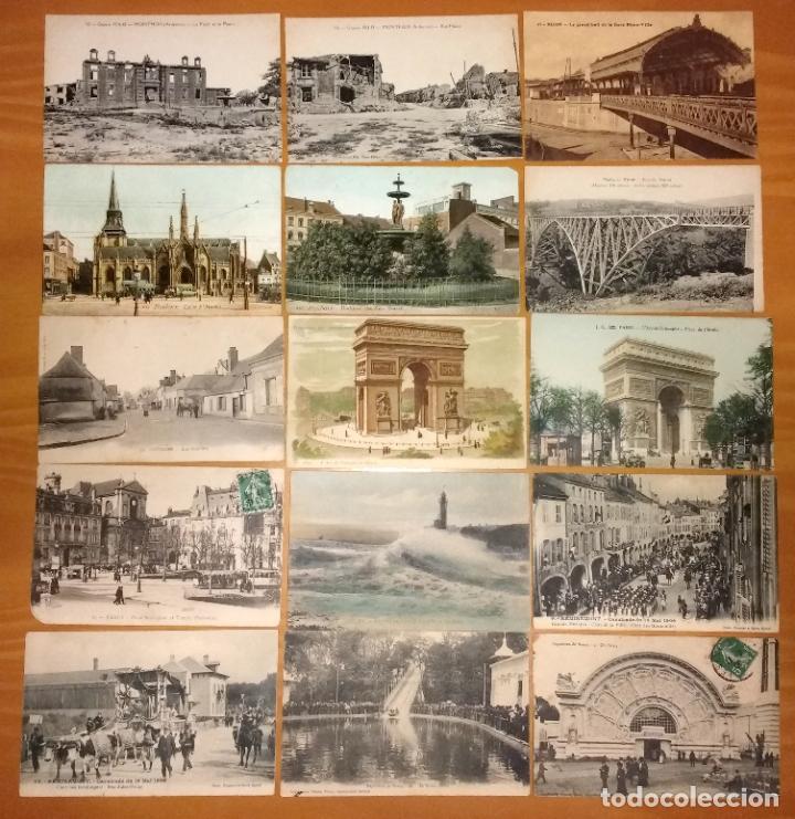 Postales: Lote de 49 Antiguas Postales de Francia de Principios del Siglo XX - Foto 3 - 190181085