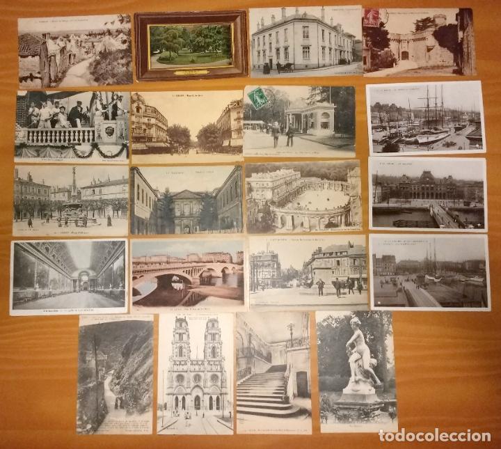 LOTE DE 49 ANTIGUAS POSTALES DE FRANCIA DE PRINCIPIOS DEL SIGLO XX (Postales - Postales Extranjero - Europa)
