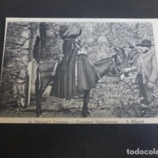 Postales: SAN MIGUEL PORTUGAL COSTUMBRES POSTAL. Lote 190504598