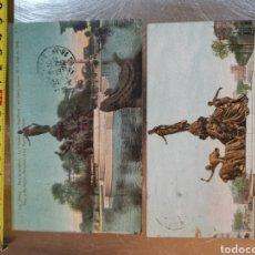 Postales: 2 POSTALES DE LA PLAZA DE LA NATION DE PARÍS. Nº222 I 340 DE 1910 Y 1927. Lote 190538007