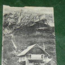 Postales: FRANCIA LOURDES 7 GARE ET FUNICULAIRE DU PIC DU JER - CIRC 1926. Lote 190612588