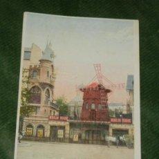 Postales: FRANCIA - PARIS - LE MOULIN ROUGE - ANTIGUA POSTAL APROX 1920. Lote 190614716
