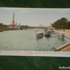 Postales: FRANCIA - PARIS - LA SEINE VUE DU PORT DE LA CONCORDE - ANTIGUA POSTAL APROX 1920. Lote 190614783