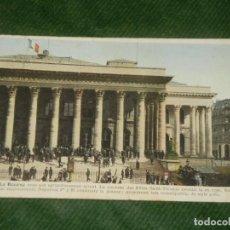 Postales: FRANCIA - PARIS - LA BOURSE - ANTIGUA POSTAL APROX 1920. Lote 190614860