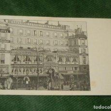 Postales: FRANCIA - PARIS - ANTIGUA POSTAL HOTEL RESTAURANT RONCERAY - HACIA 1910. Lote 190616025