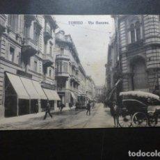 Postales: TURIN TORINO ITALIA VIA GENOVA. Lote 191030683