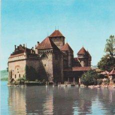 Postales: SUIZA, MONTREAU, CASTILLO DE CHILLON - PHOTOGLOB WEHRLI - S/C. Lote 191213947