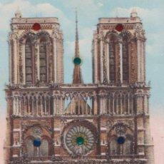 Postales: PARIS, CATEDRAL NOTRE-DAME, PURPURINA - EDITEUR L.BOISSON - S/C. Lote 191217482