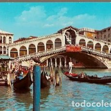 Postales: ITALIA & CIRCULADO, VENEZIA, CANAL GRANDE, IL PONTE DI RIALTO, PARÍS FRANCIA 1970 (27). Lote 191348765