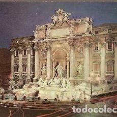 Postales: ITALIA & CIRCULADO, ROMA, LA FUENTE DE TREVI EN LA NOCHE, BASILEA SUIZA 1969 (511). Lote 191360605
