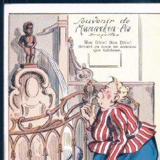 Postales: POSTAL BELGICA - SOUVENIR DE MANNEKEN PIS - BRUXELLES . Lote 191568910