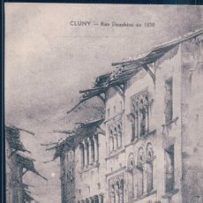Postales: POSTAL FRANCIA - CLUNY - RUE DAUPHINE EN 1838 - CHARVET - LES INCENDIES.... Lote 191678791