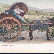 Postales: POSTAL ROMA - COSTUMI POPOLARI - 25 - TAMPON THE BOSTON HOTEL-ROME. Lote 191688235
