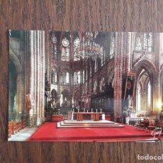 Postales: POSTAL DE INTERIOR CATEDRAL NOTRE-DAME, PARIS. FRANCIA.. Lote 192286743