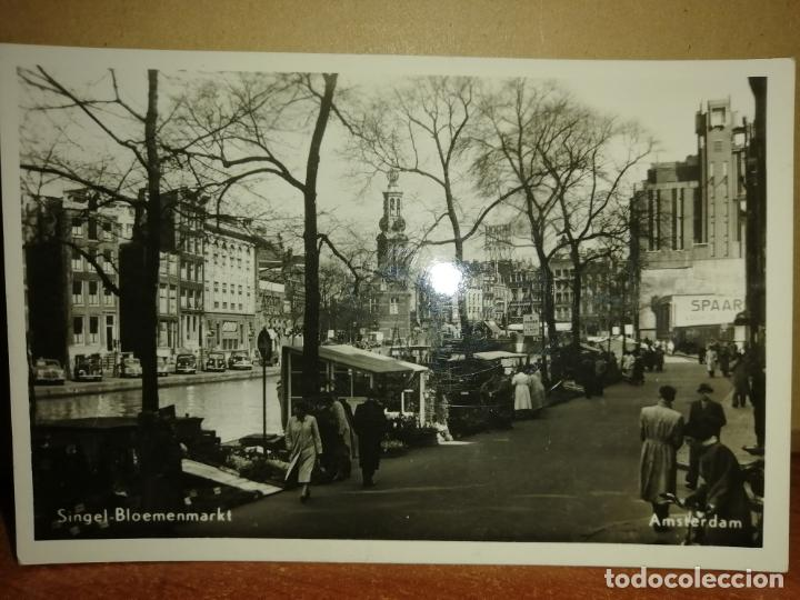FOTO POSTAL AMSTERDAM . SINGEL BLOEMENMARKT. S/C (Postales - Postales Extranjero - Europa)