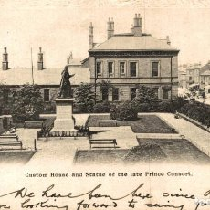 Postales: GRIMSBY, CUSTOM HOUSE AND STATUE OF THE LATE PRINCE CONSORT. REINO UNIDO. Lote 192990320