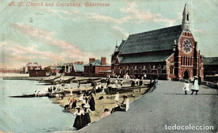 R.C. CHURCH AND ESPLANADE, SHEERNESS. REINO UNIDO (Postales - Postales Extranjero - Europa)