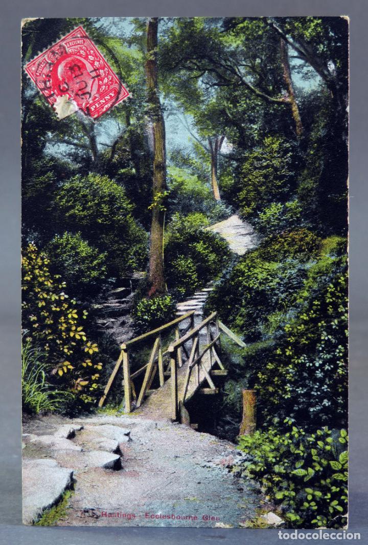 POSTAL HASTINGS ECCLESBOURNE REINO UNIDO CIRCULADA SELLO 1911 (Postales - Postales Extranjero - Europa)