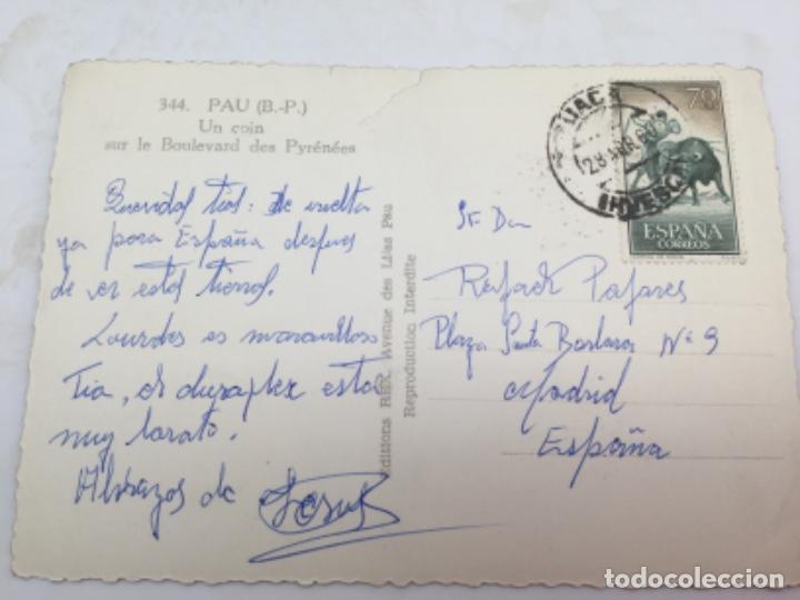 Postales: Postal. Un Rincón del Boulevar Sur de los Pirineos. Con Sello de España. Matasellos 1960 - Foto 2 - 193078085