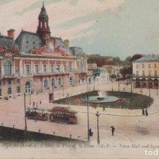 Cartes Postales: FRANCIA TOURS PLAZA DEL AYUNTAMIENTO TRANVIAS 1908 POSTAL CIRCULADA. Lote 193202568