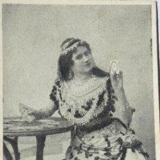 Postales: P-10021. ADIVINADORA SEÑALANDO LAS CARTAS. POSTAL ITALIANA 1903. CIRCULADA.. Lote 193430733